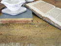 19th century Italian pine TrestleTable with remains of Original Paint - picture 4