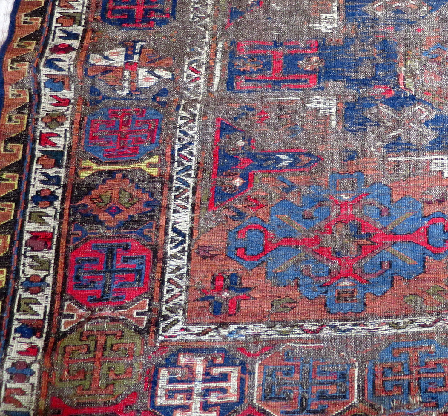19th c Persian Soumak - worn but beautiful!