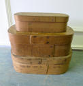 French early 20th c fine wooden oval boxes - circa 1920 - picture 1
