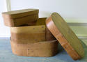 French early 20th c fine wooden oval boxes - circa 1920 - picture 3
