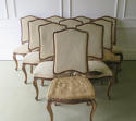 Set of 10 French late 19th c Dining Chairs - picture 1