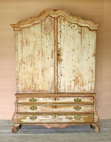 18th century Dutch 2-part Cupboard on Drawers