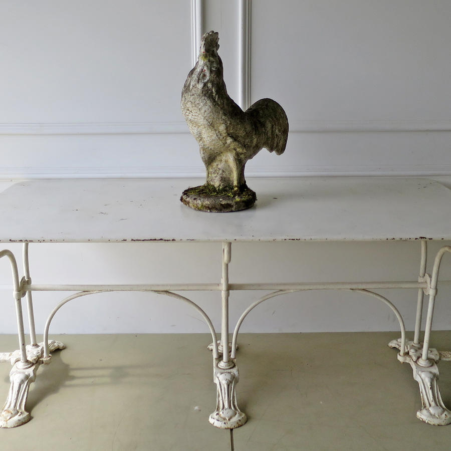 Unusual French Iron Garden Table - circa 1900