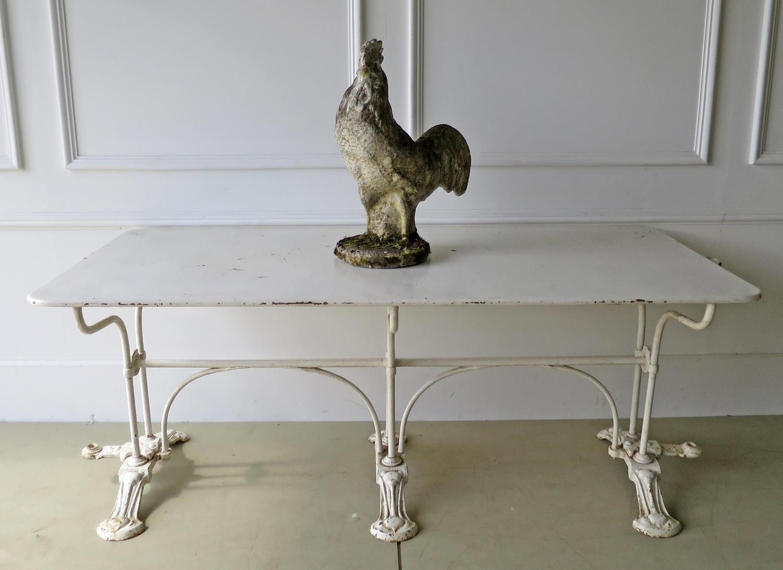 Unusual French Iron Garden Table - circa 1900