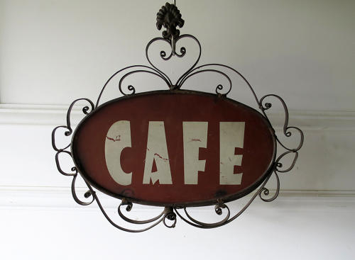 French 'CAFE' sign - charming! circa 1930