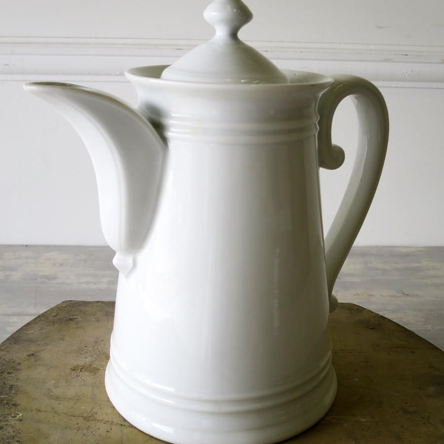 Large French white Porcelain Coffee Pot
