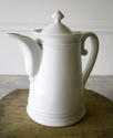 Large French white Porcelain Coffee Pot - picture 1