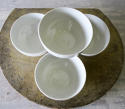 Set of 4 small white Porcelain Bowls French circa 1930 - picture 2