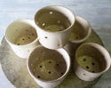 Set of 5 French Cheese Draining Pots circa 1900 - picture 2