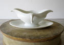 19th century French white Porcelain Sauce Boat - picture 1