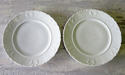 Pair of French pretty white Side Plates circa 1920 - picture 1