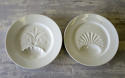 Two charming French white Porcelain Asparagus Plates 19th c - picture 1