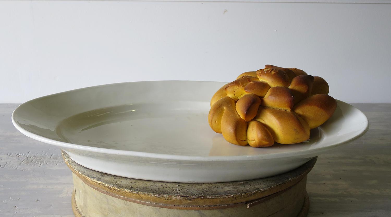 19th c White large Porcelain Servery Platter