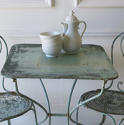 French Iron Cafe table with 2 chairs - picture 2
