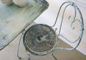 French Iron Cafe table with 2 chairs - picture 3