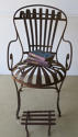 Single Iron sprung arm chair with footstool circa 1880 - picture 4