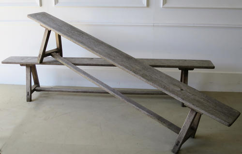 Pair of 19th c English Oak Benches