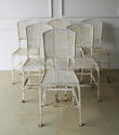 Set of 6 French Iron Garden Chairs - Circa 1930 - picture 2
