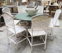 Set of 6 French Iron Garden Chairs - Circa 1930 - picture 3