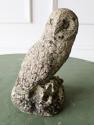 Small English composition stone Owl - circa 1920 - picture 1