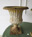 A Pair of 19th c English Cast Iron Campana Urns - circa 1840 - picture 2