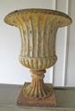 A Pair of 19th c English Cast Iron Campana Urns - circa 1840 - picture 5