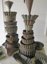 Pair of Tin Towers made with old French Tole Moulds - circa 1940 - picture 2