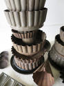 Pair of Tin Towers made with old French Tole Moulds - circa 1940 - picture 3