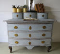 Small 18th century Swedish Chest of Drawer  with small drawers above- - picture 1