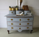 Small 18th century Swedish Chest of Drawer  with small drawers above- - picture 5