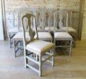 Set of 8 Swedish Country Dining Chairs - picture 1