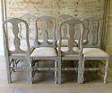 Set of 8 Swedish Country Dining Chairs - picture 3