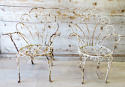 Pair of Funky Iron Garden Chairs - circa 1950 - picture 2