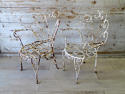 Pair of Funky Iron Garden Chairs - circa 1950 - picture 4