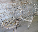 Pair of Funky Iron Garden Chairs - circa 1950 - picture 5