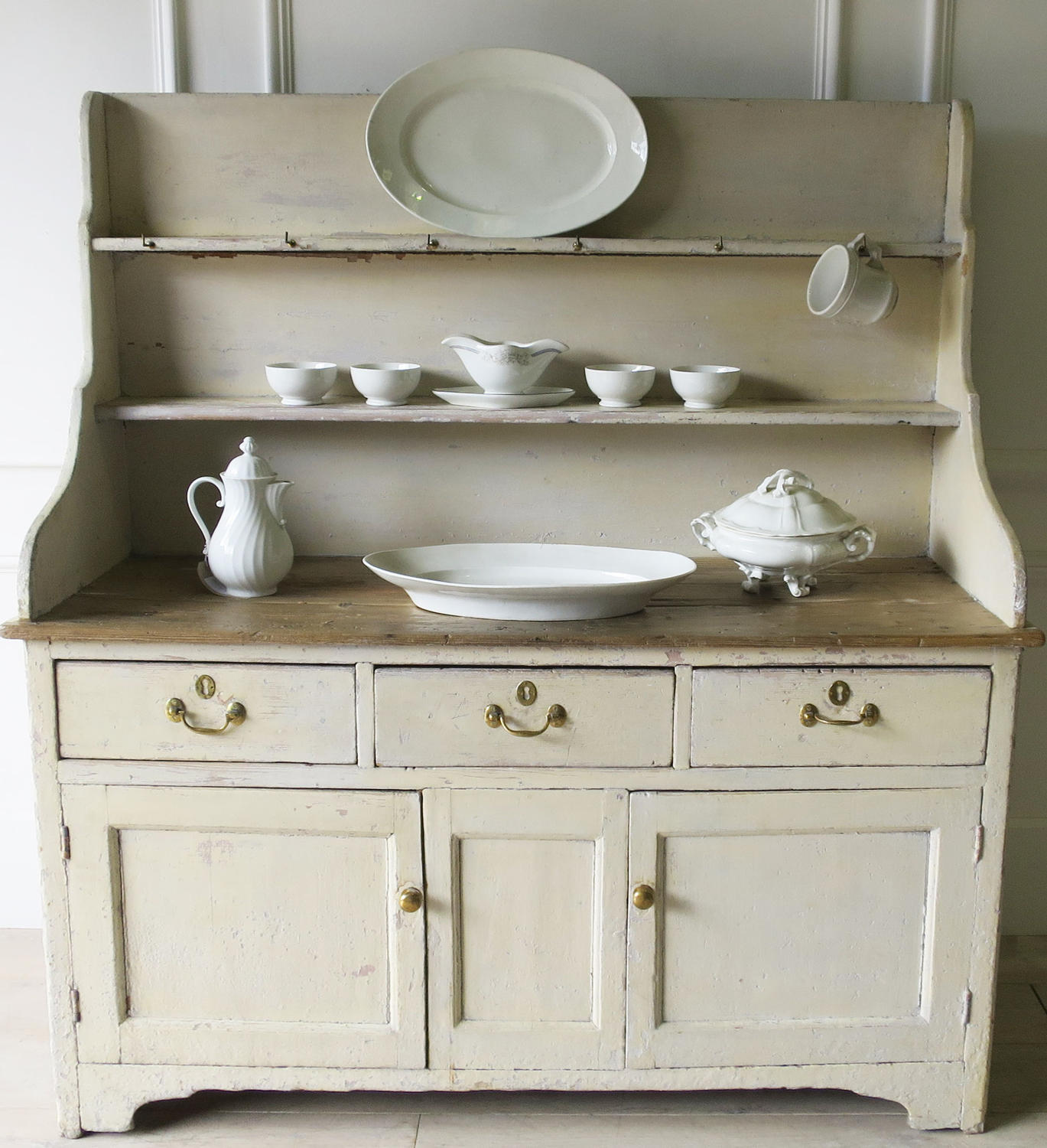 Painted Pine Dresser In Antique Furniture