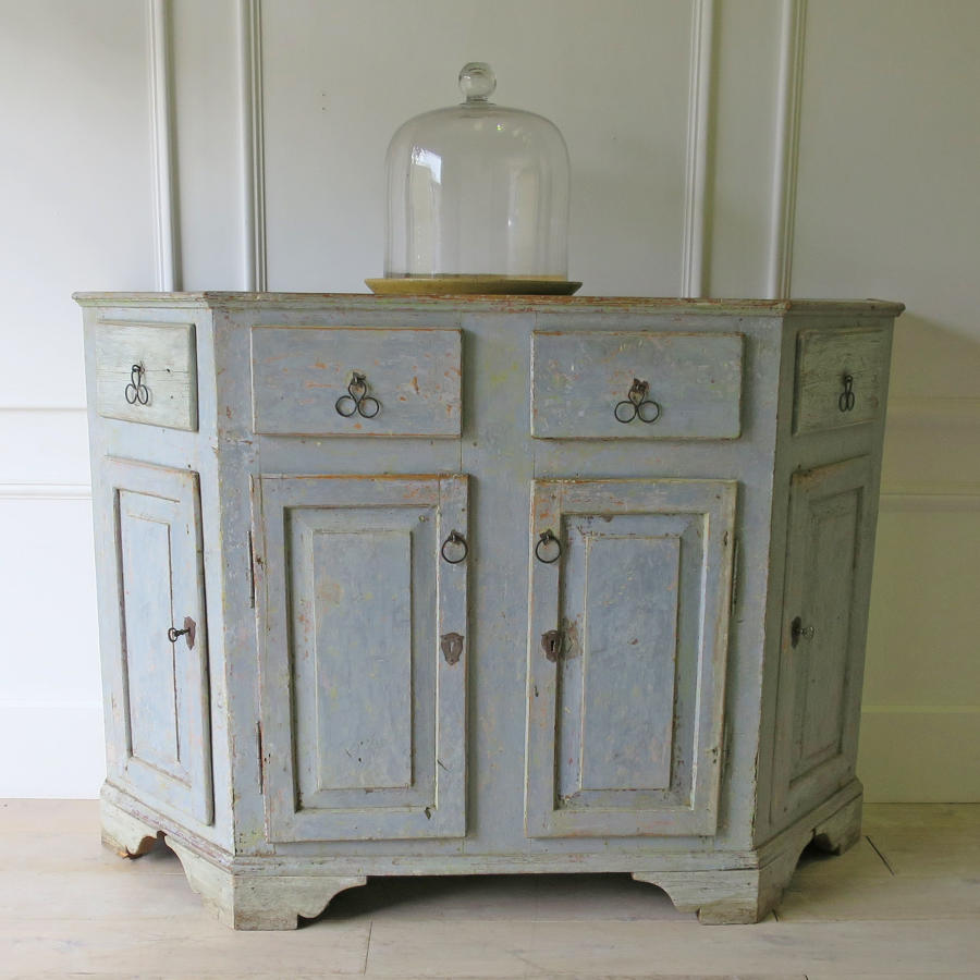 18th c Italian Painted Buffet with original paint