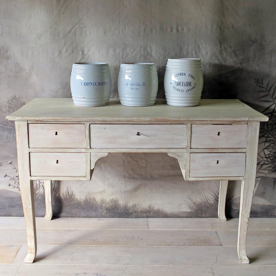 Swedish Bleached Oak Desk circa 1950
