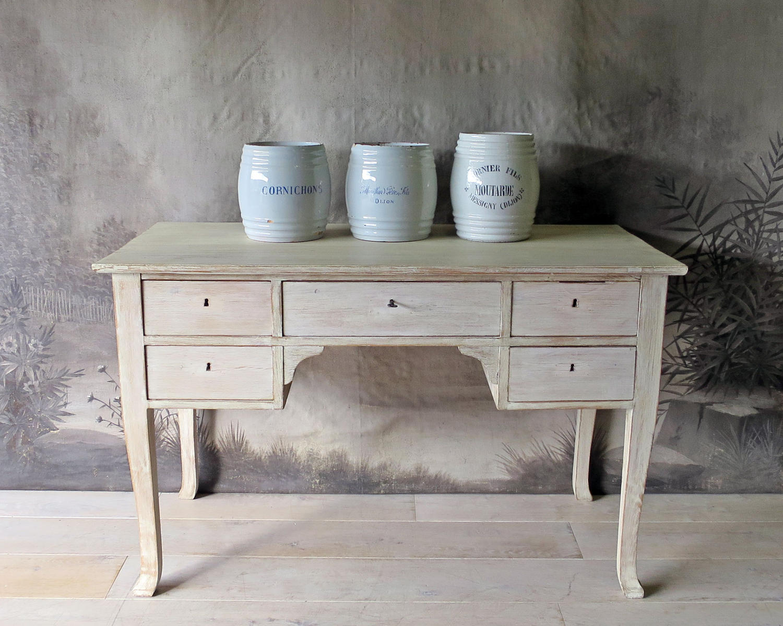Swedish Bleached Oak Desk circa 1950