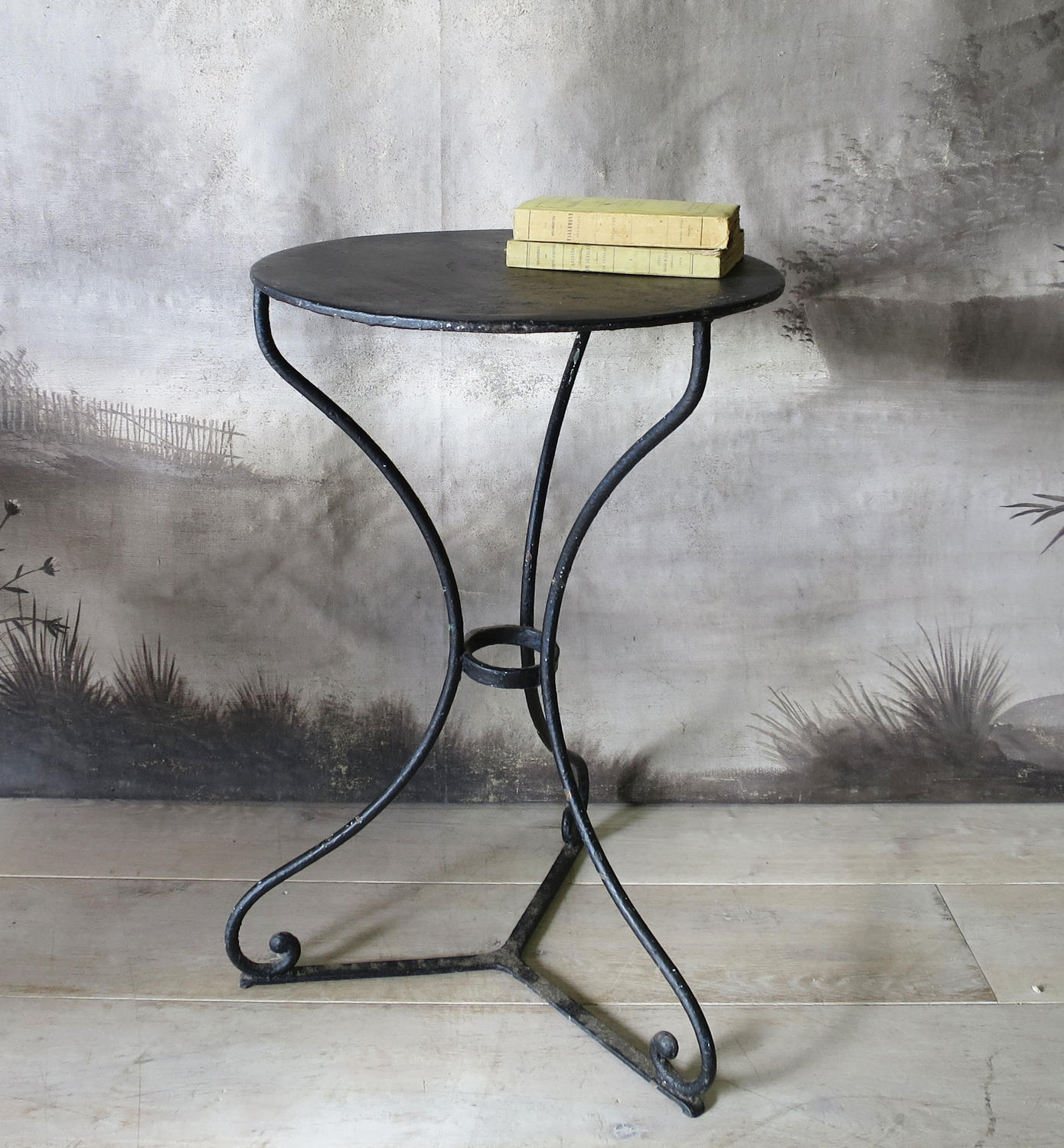 Round French Iron Cafe Table