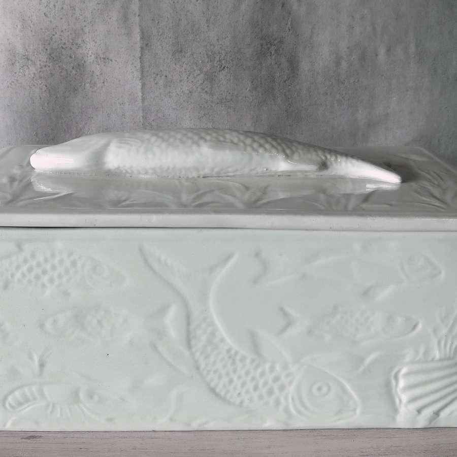 White Porcelain French Fish Tureen circa 1890