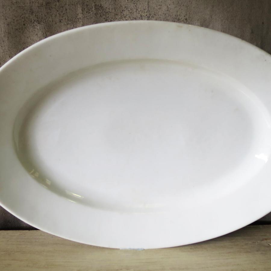 Plain French White Porcelain Meat Server - 1900
