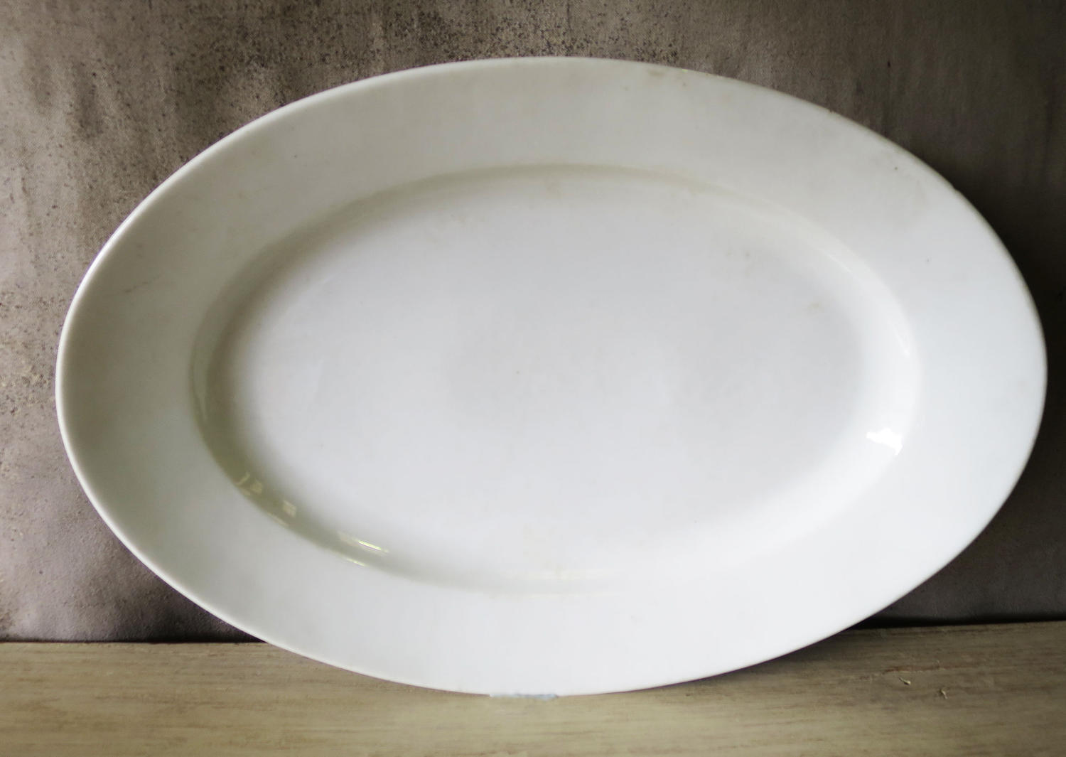 Plain French White Porcelain Meat Server - 1900
