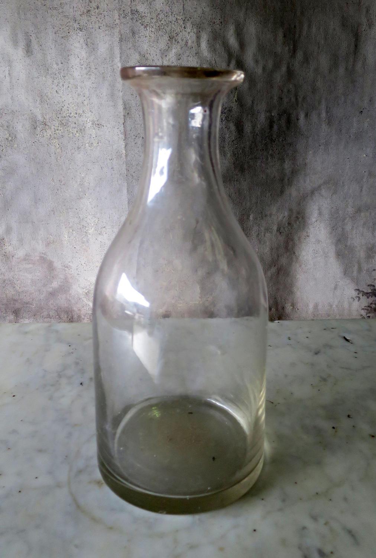 French Plain glass Cider Carafe circa 1900