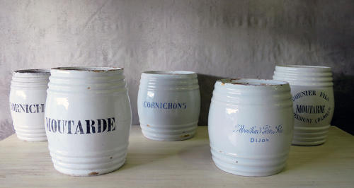 French Large 19th century Mustard Jars circa 1880