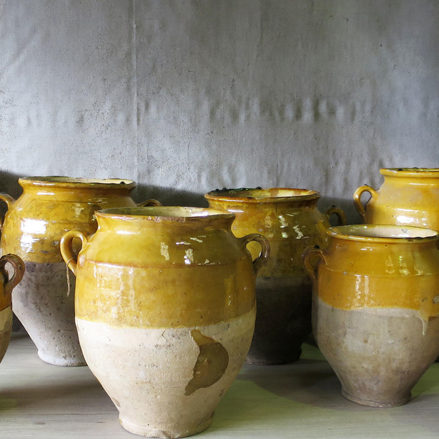 Collection of 19th century French Confit Pots