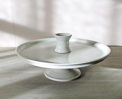 Large French Raised White Plate circa 1880