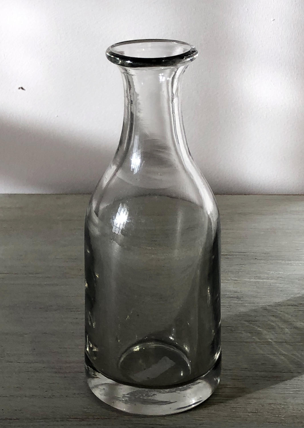 Small but heavy hand-blown 19th c Cider Carafe c 1860