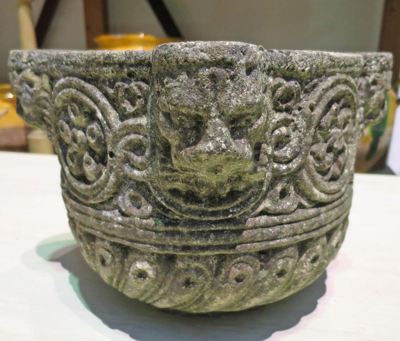 Hand Carved English Stone Mortar circa 1800