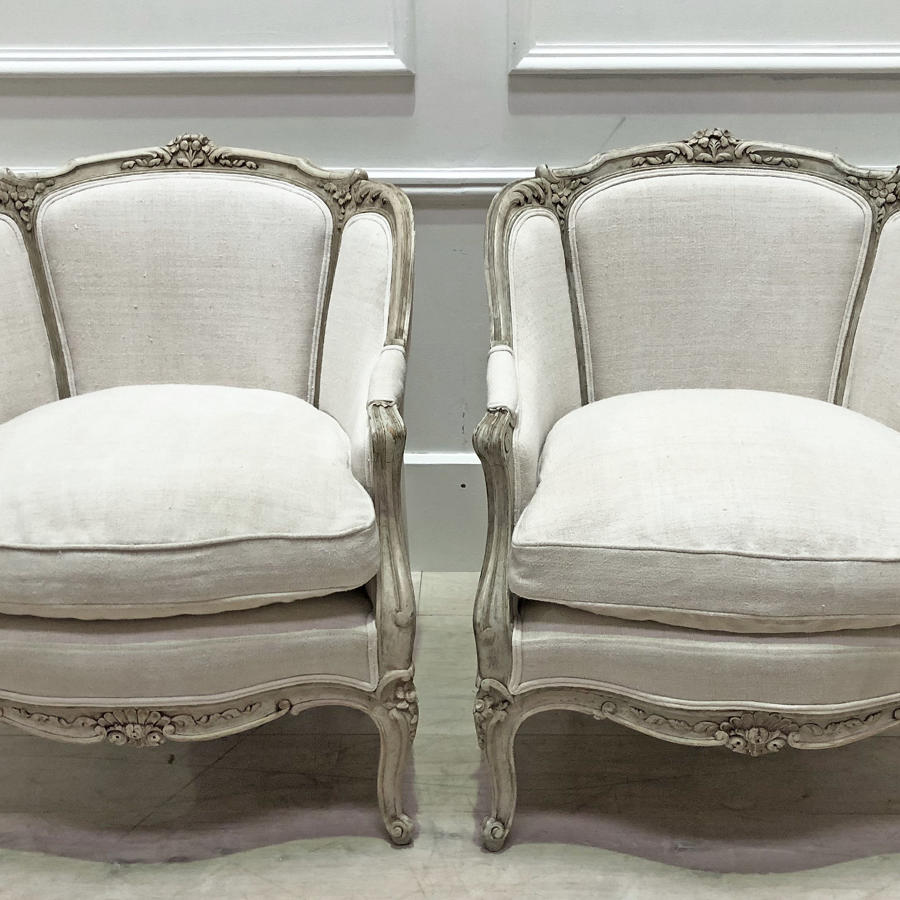 Pair of 19th c French Bergeres